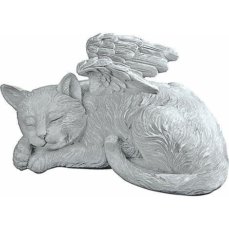 d'Animal de compagnie Ange Chat Statue Honorifique Pierre Tombale, 12 cm, polyrésine