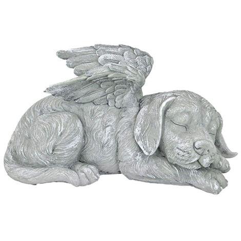 d'Animal de compagnie Ange Chien Statue Honorifique Pierre Tombale, 20.5 cm, polyrésine