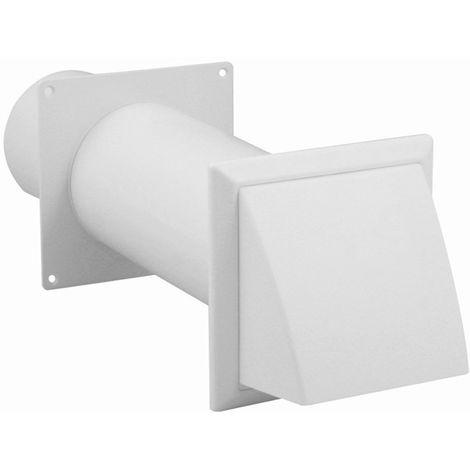 daniplus© Mauerdurchführung, Mauerdurchwurf teleskopisch, ausziehbar 275-400mm Ø125mm für Küche, Bad