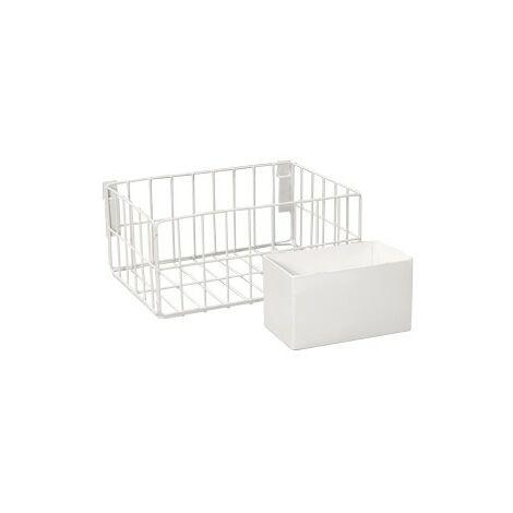 daniplus© Waschmittelkorb, Waschmittelkörbchen mit Wäscheklammerhalter für Verbindungsrahmen