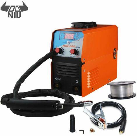 DANIU Mini MIG-200 AC220V IGBT MIG MMA TIG máquina de soldadura sin gas equipo de soldadura