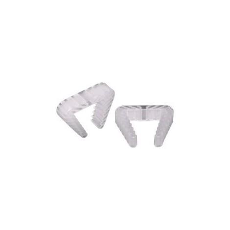Danto Pince de fenetre, Fenetre bouchon, Dispositif blocage de fenetre pour Épaisseur de cadre 3,0 jusqu'à 5,0 cm, Choix Couleur et Quantité - Transparent, Nombre : 1 pièce