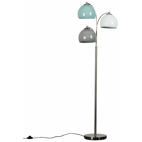 Dantzig 3 Way Brushed Chrome Floor Lamp