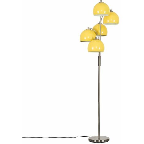 Dantzig 5 Way Brushed Chrome Floor Lamp + LED Bulbs