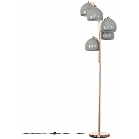 Dantzig 5 Way Copper Floor Lamp + LED Bulbs