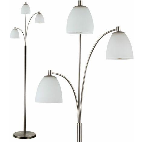 Dantzig Floor Lamp In Brushed Chrome
