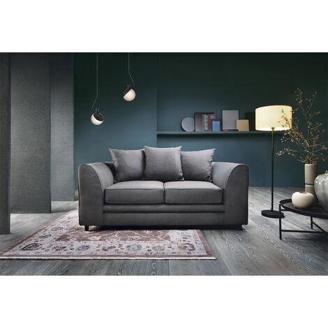 Darcy 2 Seater Sofa - color Dark Grey