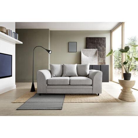 Darcy 2 Seater Sofa - color Light Grey
