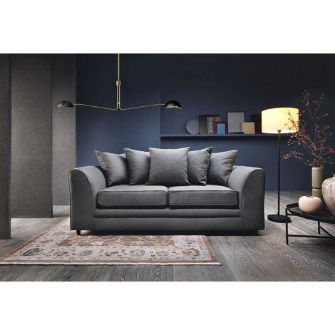 Darcy 3 Seater Sofa - color Dark Grey