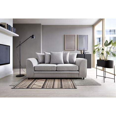 Darcy 3 Seater Sofa - color Light Grey