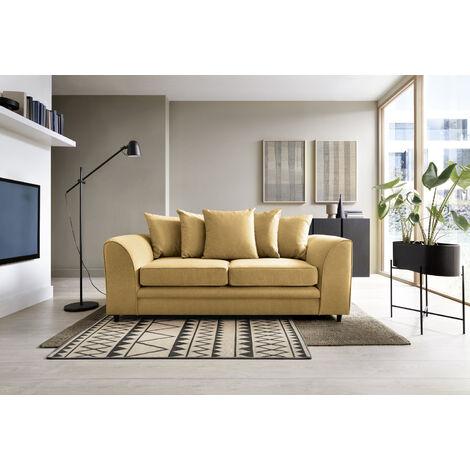 Darcy 3 Seater Sofa - color Mustard
