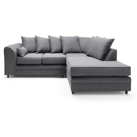 Darcy Corner Sofa - color Dark Grey
