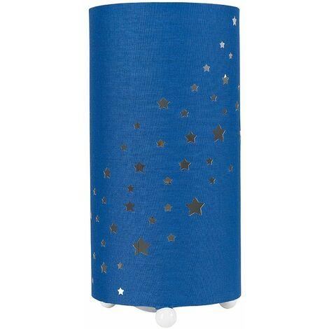 Dark Blue Cut Out Star Table Lamp + 4W LED Bulb Warm White