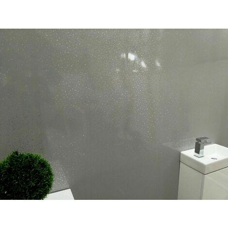 Dark Grey Galaxy PVC Cladding Panels and Bathroom Trims Wet Wall Ceiling Set-8 - size - color Grey