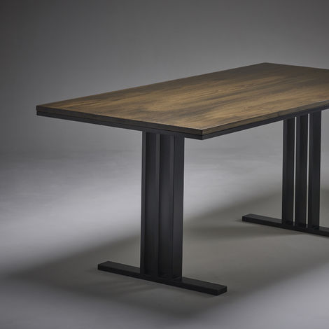 Dark Oak Dining Table 1800mm x 900mm I Beam Legs