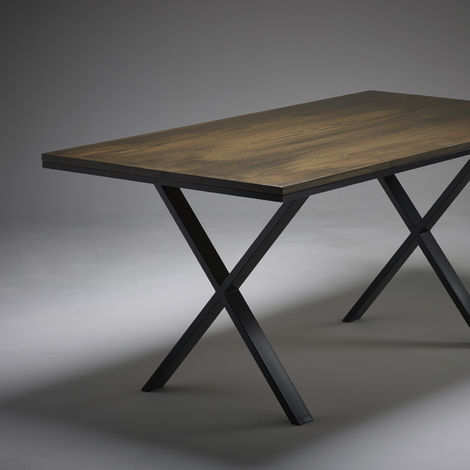 Dark Oak Dining Table 1800mm x 900mm X Legs