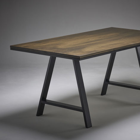 Dark Oak Dining Table 2000mm x 800mm A Legs