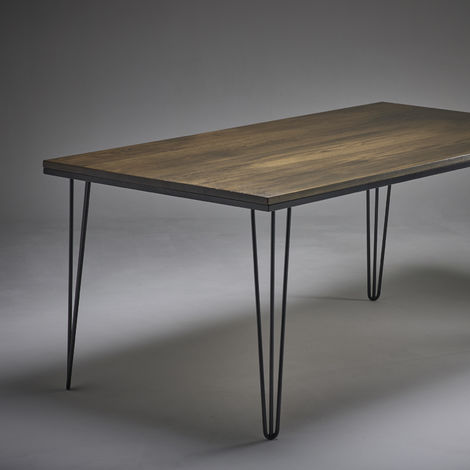 Dark Oak Dining Table 2000mm x 800mm Hairpin Legs