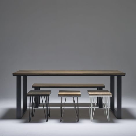 Dark Oak Dining Table 2000mm x 800mm O Legs 71cm x 71cm