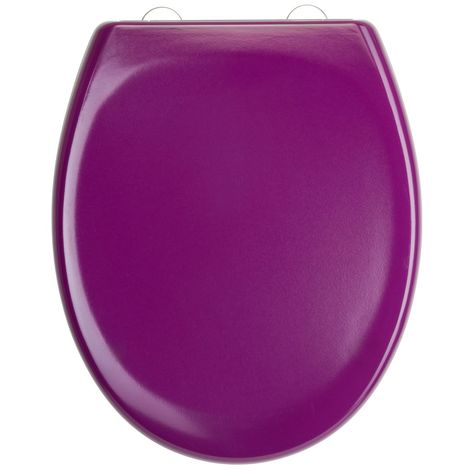 Awe Inspiring Dark Purple Toilet Seat In Duroplast High Quality With Automatic And Detachable Lowering Alphanode Cool Chair Designs And Ideas Alphanodeonline
