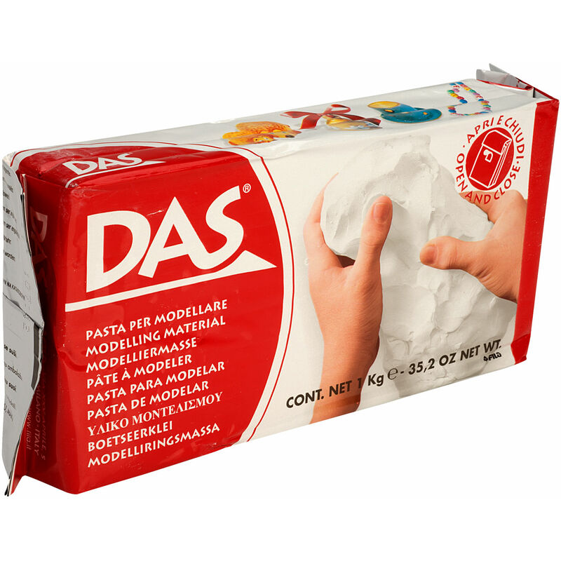 Image of 387500 Air Drying Modelling Clay 1kg White - DAS