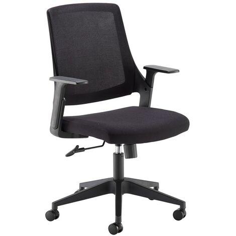 Dasan black mesh operator chair black fabric chrome/black base
