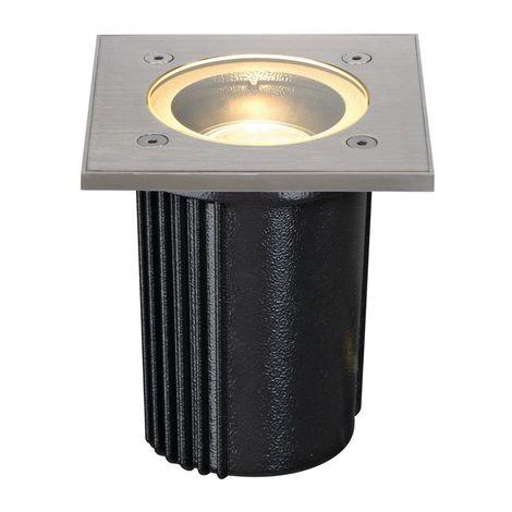 DASAR EXACT 116, GU10 encastré de sol, carré, inox 316, max. 35W, IP67 - inox brossé