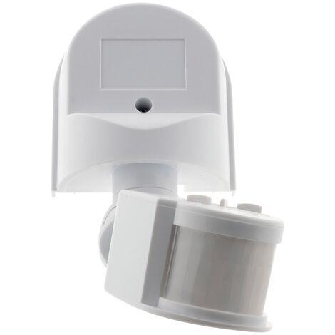Détecteur de mouvement IP44 - Couleur: Noir ou Blanc
