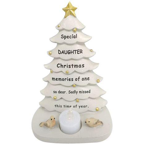 Daughter Christmas Tree With Flickering Tea Light Ornament Memorial Tribute