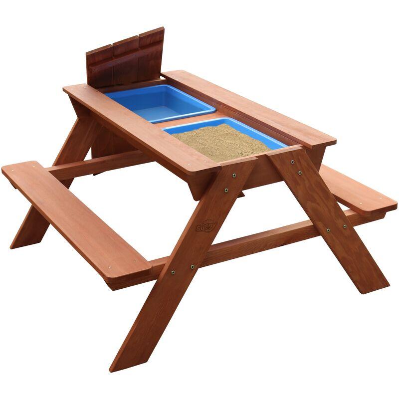 Sunny - AXI Dave Table Sable et Eau / pique nique en Bois | Table d'eau avec Couvercle & boîtes de rangement | Table de Jeu Enfant à Eau pour le