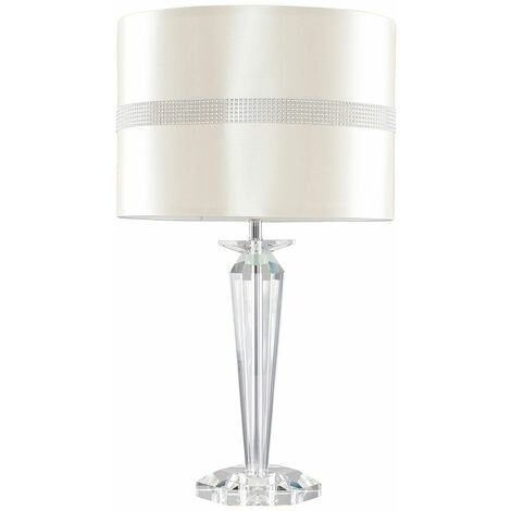 Davenport K9 Crystal Table Lamp with Fabric Shade