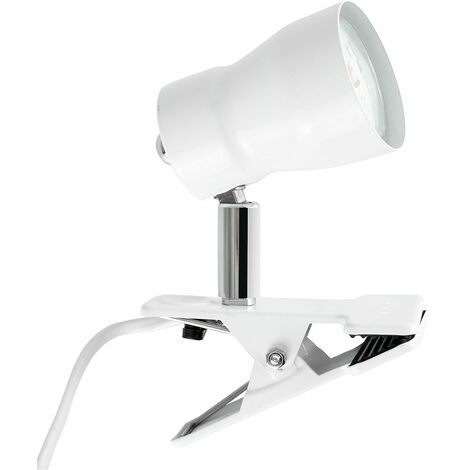 Daylight LED Clamp On Desk Lamp Spotlight In A White Finish