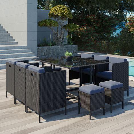daytona 10 salon de jardin encastrable 10 places en. Black Bedroom Furniture Sets. Home Design Ideas
