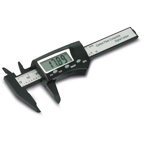 Daytools DMS-75C präzise digitale Schieblehre, Messschieber, 4 stelliges LC-Display, Umschaltbar zwischen mm und Inch, aus kohlefaserverstärktem Kunststoff, Messbereich bis 75mm, klein und handlich