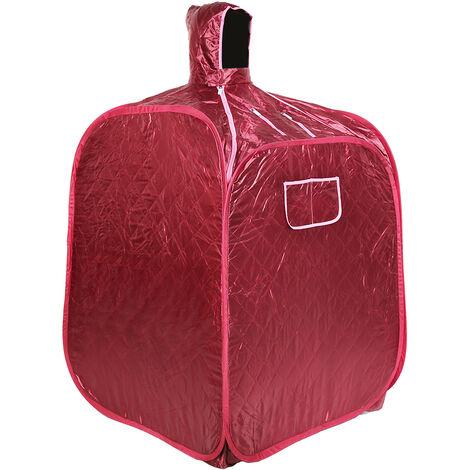 DazHom® 2.5L sauna bain vin rouge 80 x 80 x 100cm avec générateur de vapeur à usage unique.