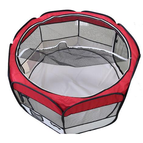 DazHom® Clôture pour animaux de compagnie ronde à huit côtés amovible et lavable