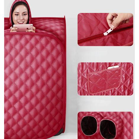 DazHom® Sauna de 2,5 L avec générateur de vapeur Double avec vin rouge 80 x 80 x 100cm.