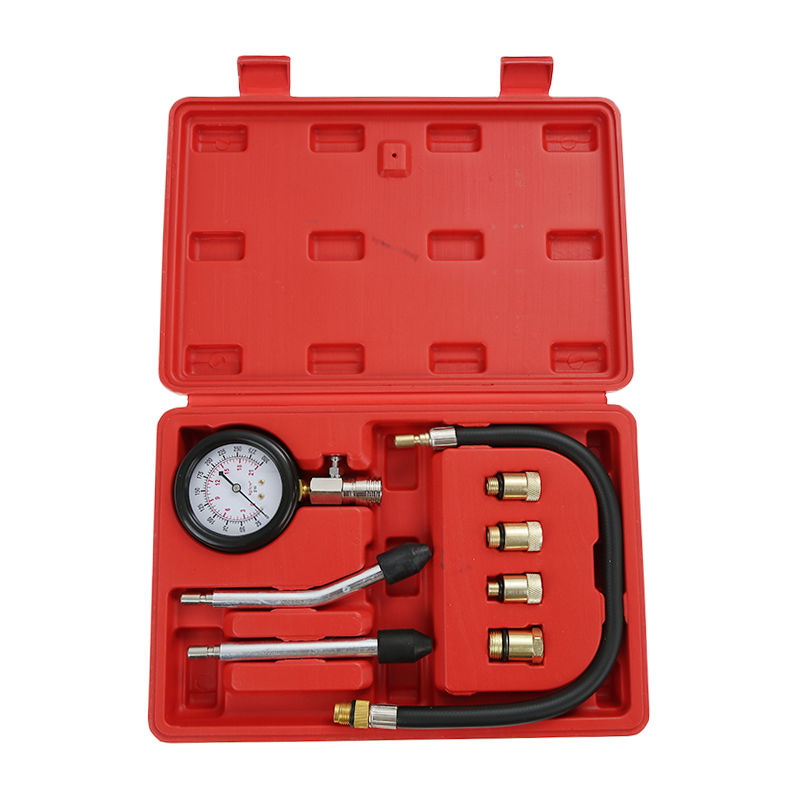 DazHom®Ensemble de 8 jauges de pression de cylindre de voiture rouge
