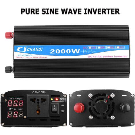 DC 12V d'inverseur à onde sinusoïdale pure de 2000 watts au convertisseur d'inverseur de puissance de voiture à C.A. 220V