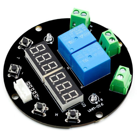 DC 12V Humidity Temperature Controller Module Digital Display Thermometer Hygrometer Controller Board
