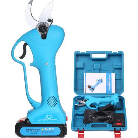 Dc 21V Electrique Secateur Kit Sans Fil A Piles Secateur Cutter Branche Avec 1 Batterie Rechargeable Et Chargeur Pour Jardinage Elagage Des Arbres Picking