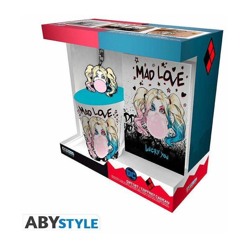 Image of DC Comics - Harley Quinn Mad Love Mug/Keyring/Notebook Gift Set