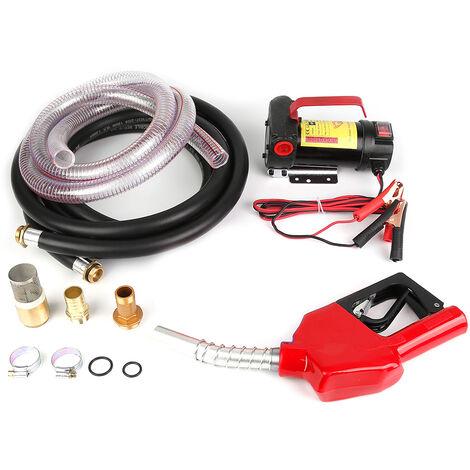 DC Pompe de Vidange Diesel 175W fluide Extractor électrique Voiture auto vitesse - Rouge-noir