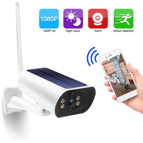 Dc03 Wifi Camera Solaire 1080P Sans Fil Minitor Plug-In Gratuit Support Code Adaptive Rate Appel Vocal Remote Wake