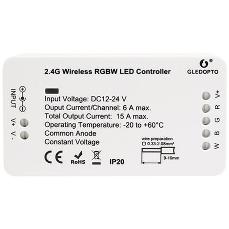 DC12-24V mini RGBW LED strip controller supports mobile app control DC12-24V