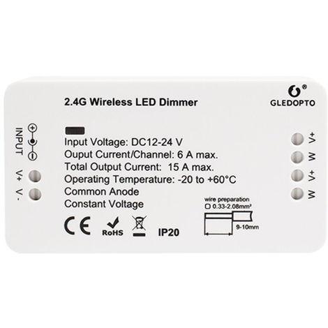 DC12-24V Zigbee Conectado controlador regulable LED del telefono celular Con el apoyo de aplicaciones de control / Control de voz / temporizador de sincronizacion Funcion Ajuste de la hora / Brillo / escenas ajustable Seleccion compatible para el sistema