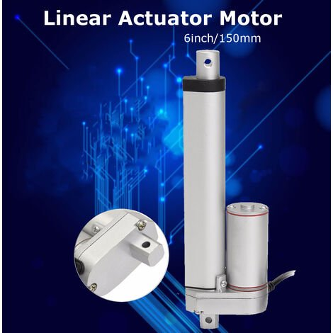 DC12V 500N 20 mm / s Actuador lineal de aluminio Motor Abridor de puerta Elevación de soporte pesado 150 mm