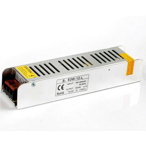"main image of ""DC12V 80W IP20 Mini Universal Regulated Switching LED Transformer"""