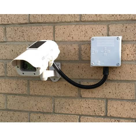 DC23 (Solar Powered Dummy CCTV Camera) with a Cable Management Box [002-0375]