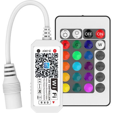 DC5-28V 100W (max.) Mini controlador inteligente portatil RGB WIFI, con control remoto